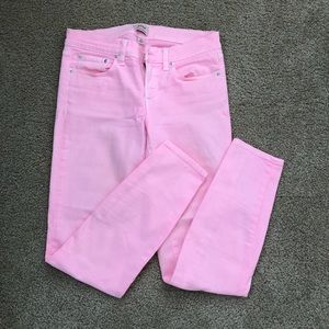 Jcrew toothpick faded hot pink jeans. Size 26
